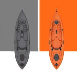 Καγιάκ μονοθέσιο για ψάρεμα με ενσωματωμένη ρόδα Seaflo