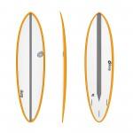 Surf board Torq 6'8'' Epoxy TET CS Fun Carbon Orange