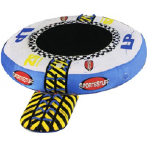 Inflated Trampoline for Remetzo with Launch Pod