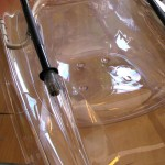 κουπί καγιάκ με διάφανες χούφτες