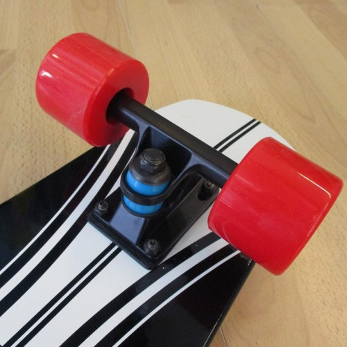 Wood cruiser skateboard 27'' Black Fish