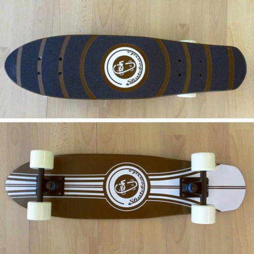 Wood cruiser skateboard 27'' Brown Fish