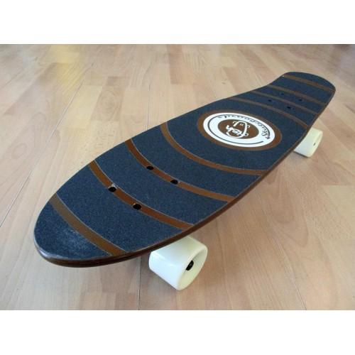 Ξύλινο cruiser skateboard 27'' Καφέ Fish