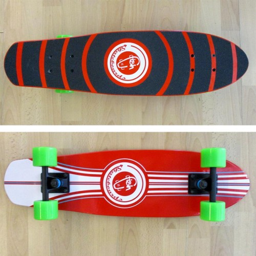 Wood cruiser skateboard 27'' Red Fish