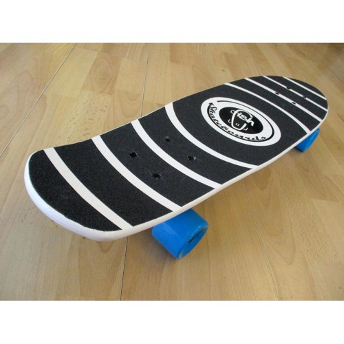 Wood cruiser skateboard 27'' White Fish