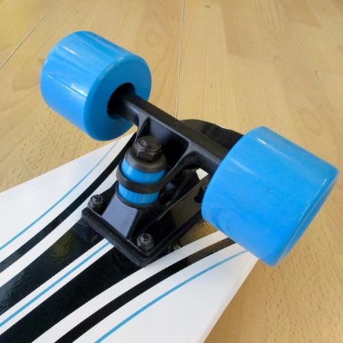 Ξύλινο cruiser skateboard 27'' Λευκό Fish