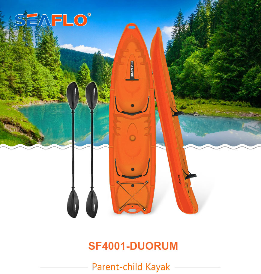Double seeat seaflo kayak for 2 adults and 2 kids